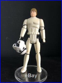 Vintage Star Wars Luke Skywalker Stormtrooper Last 17 Action Figure With Helmet