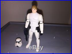 Vintage Star Wars Luke Skywalker Stormtrooper POTF 1984 Original Helmet Blaster