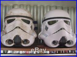 X2 TWO Star Wars Black Series Imperial Stormtrooper Helmet RARE LIFE SIZE PROP
